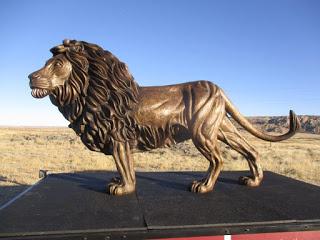 """""""LION OF JUDAH"""" bronze on the new """"MOBILE EVANGELISM TRAILER"""" (""""MET"""")"""