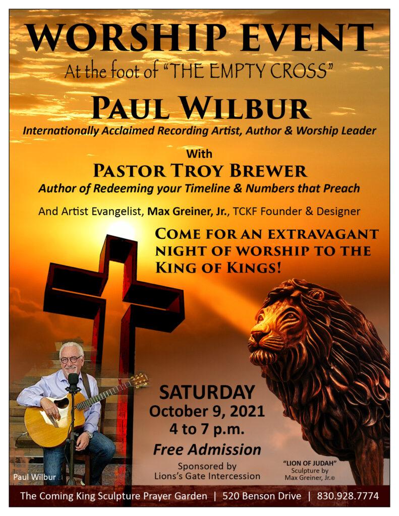Paul Wilbur Night of Worship at The Empty Cross